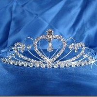 Bridal Wedding Tiara Crown With Crystal Heart 42205: Beauty