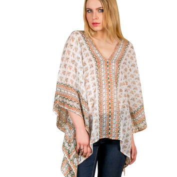 Chiseled Chronicle Caftan Top