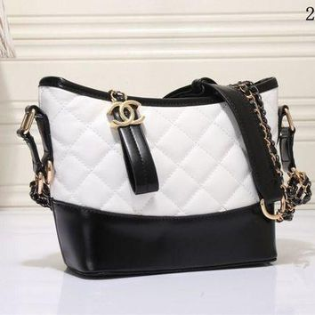 DCCKXT7 Chanel' Women Personality Fashion Multicolor Quilted Bucket Bag Single Shoulder Messenger Bag