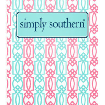 Simply Southern Pocket Folder In Lattice - Pink/Blue