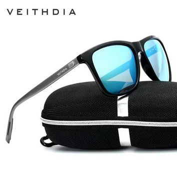 VEITHDIA Men Sunglasses Polarized Lens Aluminum With TR90 Sunglasses Vintage Luxury Eyewear Eyewear  Sun Glasses For Women 6108
