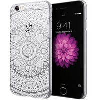 iPhone 6S Case, Cimo [Henna] Apple iPhone 6S Case Clear Design Floral Flower Pattern Premium ULTRA SLIM Hard Cover for Apple iPhone 6S / 6 - White