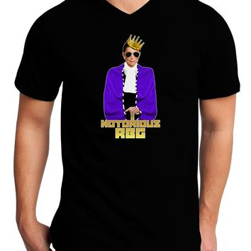 Notorious RBG Adult Dark V-Neck T-Shirt by TooLoud