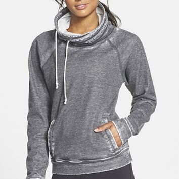 Women's Reebok Distressed Funnel Collar Sweatshirt,