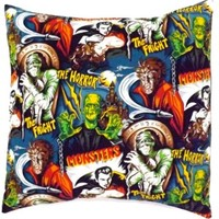 Monsters Envelope Throw Pillow Cover P236