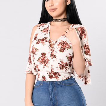 Urban Flora Top - White
