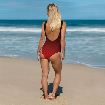 INFAMOUS MILITIA™Ombre red swimsuit