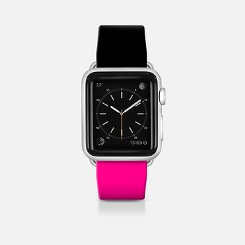 Black and pink  - Bicolor collection Apple Watch Band (42mm)  by WAMDESIGN | Casetify
