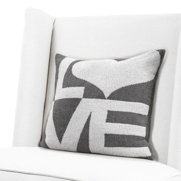 Dolce Love Pillow in Silver by Little Giraffe