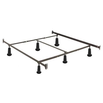 Queen size High Rise Metal Bed Frame with Headboard & Footboard Brackets