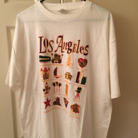oversized vintage los angeles t shirt // city of angels // LA