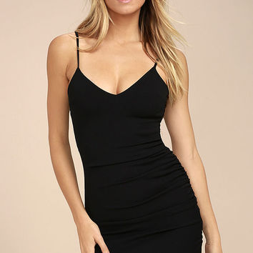 Au Courant Black Bodycon Dress