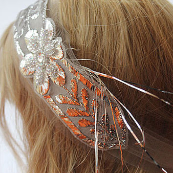 Bridal Headband, Vintage Style,  Sparkly Handmade, Exclusive,  Wedding Hair, Head Piece,  Crystal , Rhinestone,  Bridal Accessories