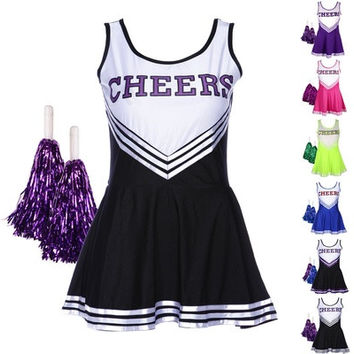 High School MUSICAL Cheerleader GIRL UNIFORM [9222381380]