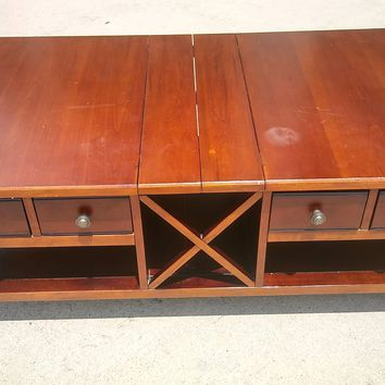 #2573 - Solid Wood Coffee Table - Brown