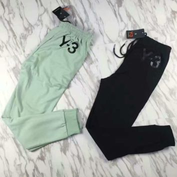 """ Y-3"" Black Top Tee Leisure Sports Pants Sweatpants Two-Piece"