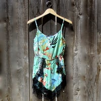 tropical dream lace playsuit - medium