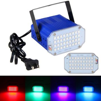 36W RGB LED Stage Light 36pcs 5050 AC100-240V Mini Sound Control Stage Lights Strobe Spotlight for Holiday Disco Party DJ Light