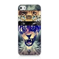 MCTM Hipster lion Tiger Leopard Case Back Cover For iPhone 5c New 2013