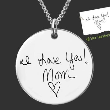Your Own Handwriting Custom Necklace