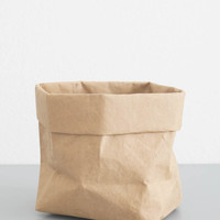 Brown Paper Storage Bag - Small