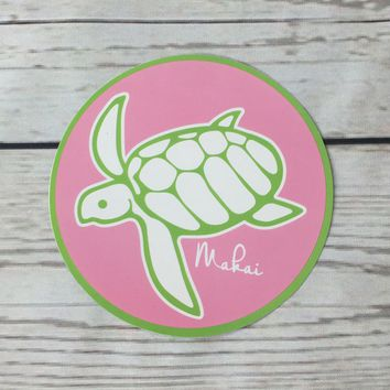 Pink and Lime Makai Sticker