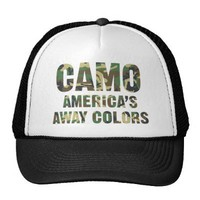 Camo America's Away Colors Trucker Hat from Zazzle.com