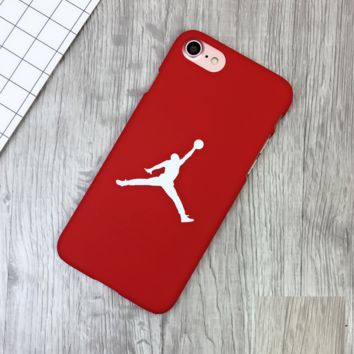 Fashion Red Jordan Print 7 7plus &6 6s Plus Cover Case