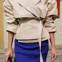 Ellijin Strap Trench Coat