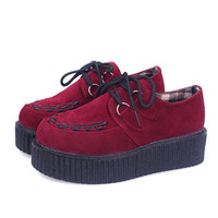Creepers Platform Shoes Woman Flats Shoes Creepers Shoes
