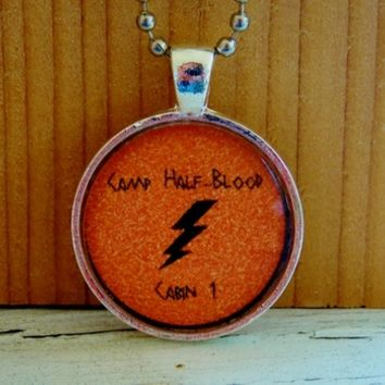 Camp Half-Blood Cabin 1 Necklace. Percy Jackson Inspired. 18 Inch Chain. from Evangelina's Closet