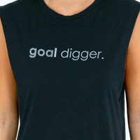 Good HYOUman Goal Digger Muscle Tank Top $32