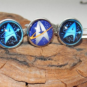 Star trek logo icon cufflinks, Star trek simbol, Star trek patch, Star trek emblem cuff links, Starfleet Symbol, Starfleet Starship cufflink