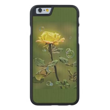 yellow rose iphone 6/6 slim maple wood case, carved® maple iPhone 6 slim case