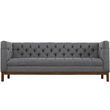 Panache Fabric Sofa Gray