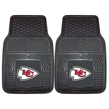 Kansas City Chiefs NFL Heavy Duty 2-Piece Vinyl Car Mats (18x27)