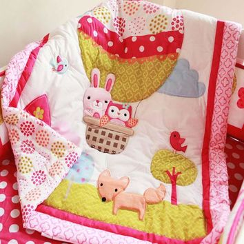 High quality 100% Cotton 84*107cm baby quilt lovely delicate cartoon baby bedding crib bedding for newborn baby girl boy