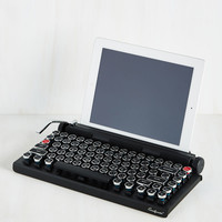 Down and QWERTY Bluetooth Keyboard | Mod Retro Vintage Electronics | ModCloth.com