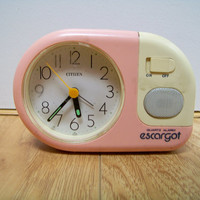 90s ALARM CLOCK Pastel Neon Mini Novelty // Room Decor Kawaii Goth 80s 1990s 1980s Working New Wave Electronics Radio Escargot Caboodles