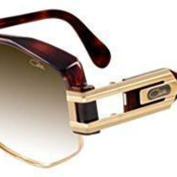 AUGUAU Cazal  Sunglasses Glossy Dark Brown/Gold / Brown Gradient