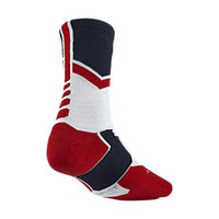 The Nike Hyper Elite World Tour Crew (USA) Basketball Socks.