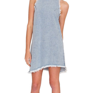Getaway Denim Dress - Light Blue