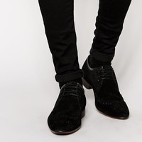 ASOS | ASOS Brogue Shoes in Black Suede at ASOS