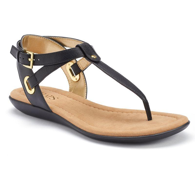 8624559048d8c Chaps Chelsea Women s Wedge Thong Sandals from Kohl s