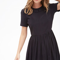 FOREVER 21 Flat Collar Babydoll Dress Black