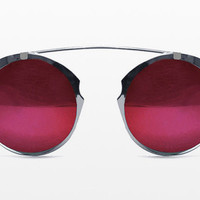 Spitfire - Intergalactic Silver Sunglasses, Red Mirror Lenses