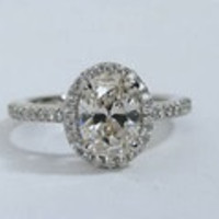 1.71ct G-SI2 Oval Diamond Engagement Ring GIA certified 18kt gold Gold JEWELFORME BLUE