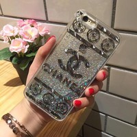 Perfect Chanel Fashion Personality Shining iPhone Phone Cover Case For iphone 6 6s 6plus 6s-plus 7 7plus