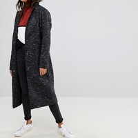 ASOS Oversized Coat in Textured Fabric at asos.com