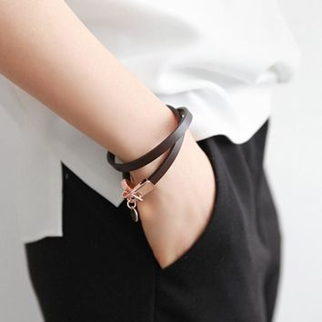 new fashion love letter leather bracelet women fashion jewelry bijoux handsome all match